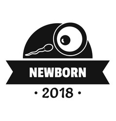 newborn human logo simple black style vector image vector image