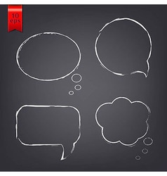 Speech Bubble Drawn With Chalk vector image
