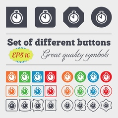 The stopwatch icon sign Big set of colorful vector image