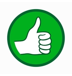 Thumb up icon simple style vector image vector image