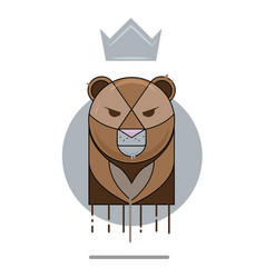 angry bear logo vector image vector image
