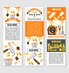 banners of home repair renovation service vector image vector image