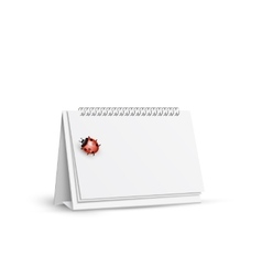 blank spiral table calendars with ladybug vector image vector image