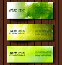 eco set of headers with four different style vector image