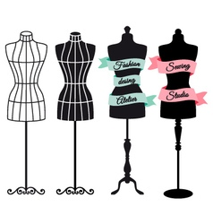 Fashion mannequins set vector image vector image