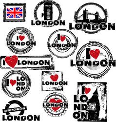 london stamps vector image vector image