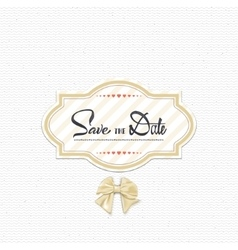 Save the date - calligraphic lettering badge label vector image vector image