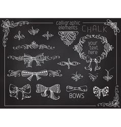 set of chalk design elements vector image
