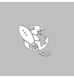 Space ship computer symbol vector image