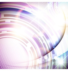 abstract bright tech background vector image