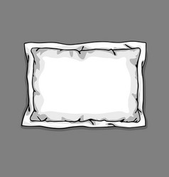 bed pillow template isolated on gray background vector image