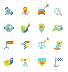 Mobile Navigation Icons Flat vector image vector image
