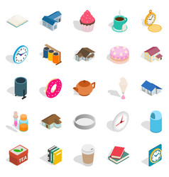 ranch icons set isometric style vector image