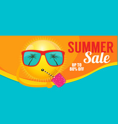 summer sale banner template for your business vector image