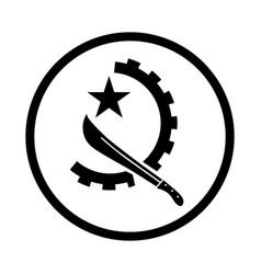 symbol of angola - iconic design vector image