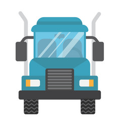 truck flat icon transport and vehicle cargo sign vector image
