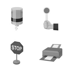 water filter stop sign and other monochrome icon vector image vector image