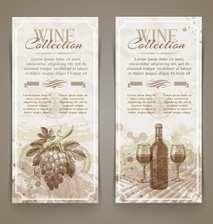 Wine and winemaking vintage banners vector image vector image