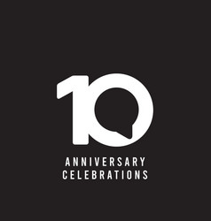 10 years anniversary celebrations template design vector