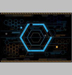 abstract hexagon technology design vector image vector image
