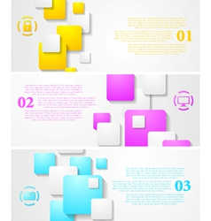Abstract tech banners vector