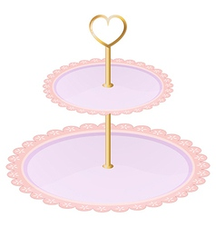 An empty cupcake tray vector