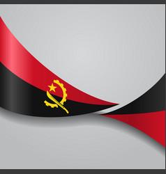 Angolan wavy flag vector