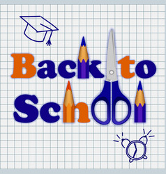 Back to school on notebook concept background vector
