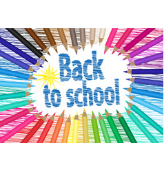 back to school the palette of pencils vector image