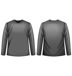 Black shirt vector image