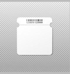 Blank isolated ticket template with rounded square vector
