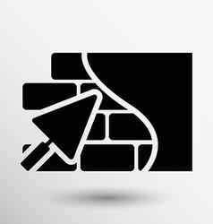 Brick wall trowel icon button logo symbol concept vector