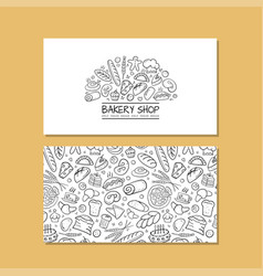 business cards design idea for bakery company vector image