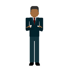 businessman avatar cartoon vector image