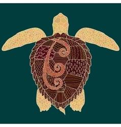 Caretta-caretta turtle with high details vector