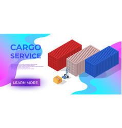 Cargo service or delivery or order tracking app vector
