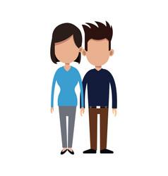 cartoon couple holding hand romantic image vector image