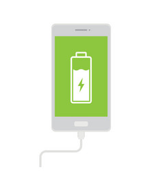 Charge mobile phones vector