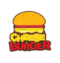 Cheese burger icon design vector
