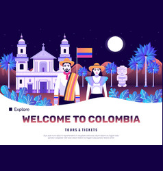 Colombia tourism poster vector