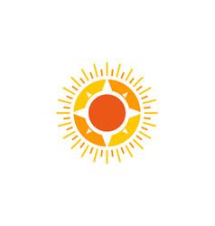 Compass sun logo icon design vector