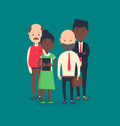 Cool flat on business meeting vector