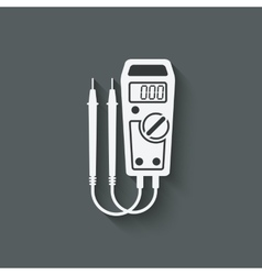 digital multimeter symbol vector image
