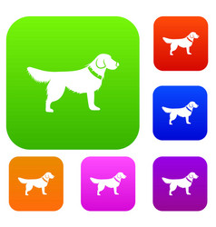 dog set collection vector image