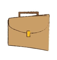 Drawing portfolio suitcase business icon vector
