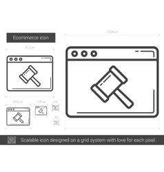 Ecommerce line icon vector image