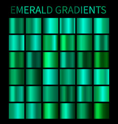 emerald gradients collection for design vector image