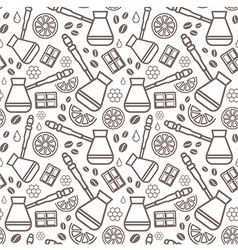 Endless coffee background vector
