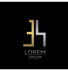 es letters logo vector image