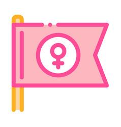 female mark flag icon outline vector image